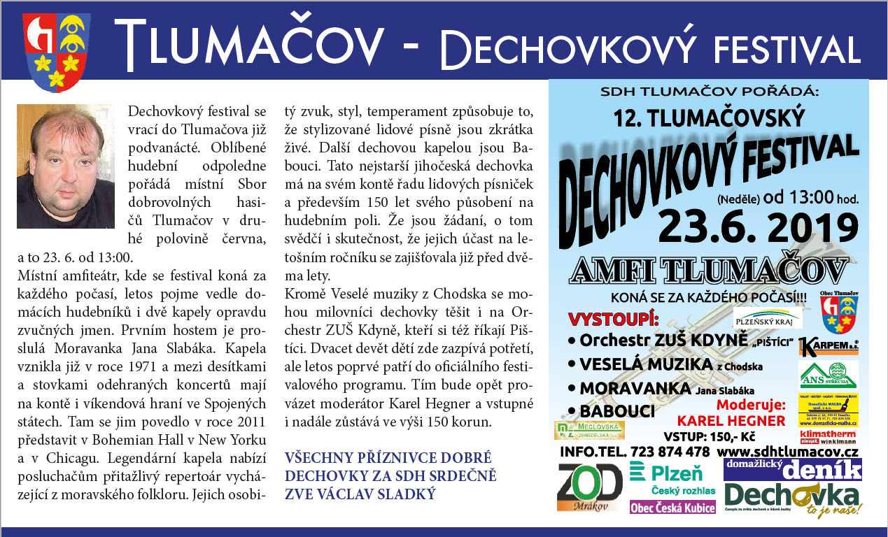 Dechovky 2019 text